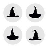 Grupo de ilustração simples dos chapéus Fotografia de Stock Royalty Free