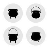 Grupo de ilustração simples dos potenciômetros Fotos de Stock