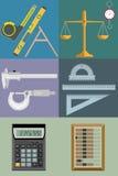 Grupo de ilustrações das ferramentas para o tipo diferente Imagens de Stock