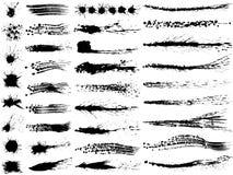 Grupo de ilustrações do curso da escova Imagens de Stock