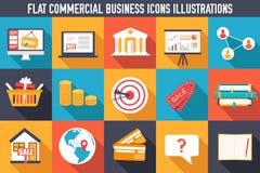 Grupo de ilustrações lisas dos conceitos de uma comunicação Fotos de Stock