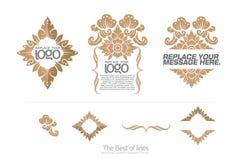 Grupo de ilustrador da etiqueta da disposição Foto de Stock Royalty Free