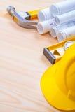 Grupo de imagem de Copyspace de objetos da construção sobre Foto de Stock