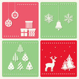 Grupo de imagens da celebração do inverno Fotos de Stock