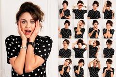 Grupo de imagens da jovem mulher bonita Imagens de Stock Royalty Free