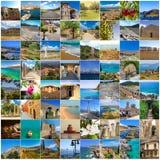 Grupo de imagens de Peloponnesus, Grécia Imagens de Stock Royalty Free