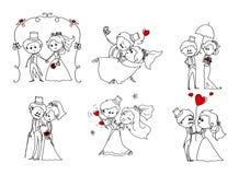 Grupo de imagens do casamento Fotos de Stock