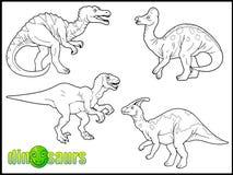 Grupo de imagens dos dinossauros ilustração stock