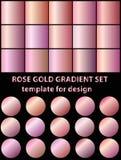 Grupo de inclinações cor-de-rosa do ouro para o fundo da forma, papel de parede VE Imagens de Stock Royalty Free