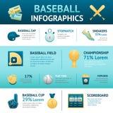 Grupo de Infographics do basebol Imagens de Stock Royalty Free