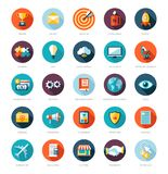 Grupo de infographics liso moderno do negócio do projeto Imagem de Stock