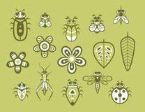 Grupo de inseto bonito Foto de Stock