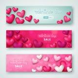 Grupo de inseto da venda do dia do ` s do Valentim com corações Ilustração Eps 10 do vetor Imagem de Stock