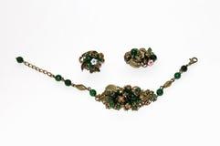 Grupo de anel da jóia, colar, broche Fotografia de Stock Royalty Free