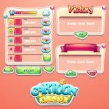 Grupo de janelas diferentes para a interface de utilizador de jogos de computador Fotos de Stock Royalty Free