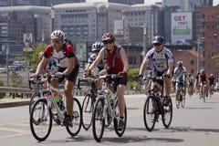 Grupo de jinetes - raza del ciclo de 94.7 Highveld Foto de archivo