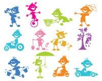 Grupo de jogar crianças ilustração stock