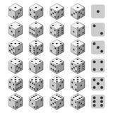 Grupo de jogo dos dados 3D ilustração royalty free