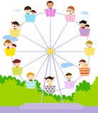Grupo de jogo dos miúdos Foto de Stock Royalty Free