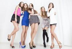 Grupo de jovem mulher imagens de stock