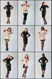Grupo de jovem mulher bonita. Foto do estúdio. Imagens de Stock