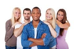 Grupo de jovens Imagens de Stock Royalty Free
