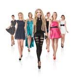 Grupo de jovens mulheres Imagem de Stock Royalty Free