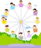 Grupo de jugar de los niños Foto de archivo libre de regalías