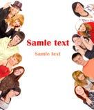 Grupo de juventud con el texto del modelo Fotos de archivo libres de regalías