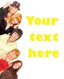 Grupo de juventude com texto do molde Foto de Stock Royalty Free