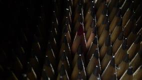 Grupo de lápices almacen de metraje de vídeo