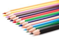 Grupo de lápices coloreados Fotos de archivo
