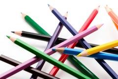 Grupo de lápices coloreados Imágenes de archivo libres de regalías