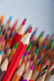 Grupo de lápis brilhantes coloridos Imagens de Stock Royalty Free