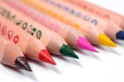Grupo de lápis coloridos brilhantes Fotos de Stock