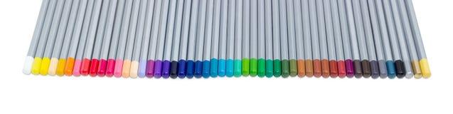 Grupo de lápis coloridos em um fundo claro Imagem de Stock Royalty Free