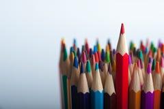 Grupo de lápis de madeira brilhantes com copyspace Fotos de Stock Royalty Free