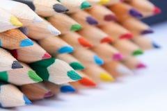 Grupo de lápis do arco-íris Fotografia de Stock Royalty Free