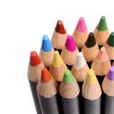 Grupo de lápis multicoloridos, tiro do close-up Fotos de Stock