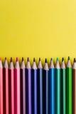 Grupo de lápis ou de pastéis coloridos coloridos multicoloridos Fotos de Stock