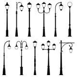 Grupo de lâmpadas de rua, ilustração do vetor ilustração royalty free
