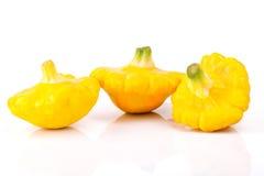 Grupo de la calabaza amarilla del bebé Fotografía de archivo libre de regalías