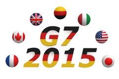 Grupo de la cumbre el G7 de 7 libre illustration