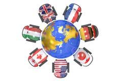 Grupo de la cumbre el G7 del concepto 7 ilustración del vector