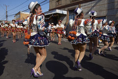 Grupo de la danza de Caporales - Arica, Chile Foto de archivo libre de regalías