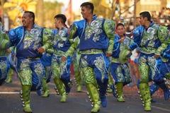 Grupo de la danza de Caporales - Arica, Chile Imagen de archivo libre de regalías