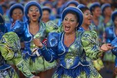 Grupo de la danza de Caporales - Arica, Chile Foto de archivo