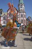 Grupo de la danza de Morenada en Arica, Chile Imagen de archivo