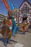 Grupo de la danza de Morenada en Arica, Chile Fotografía de archivo libre de regalías