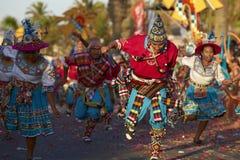Grupo de la danza de Tinku - Arica, Chile Imagenes de archivo